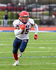 Chenango Forks Blue Devils Jeremiah Allen (45) running with the ball against the Skaneateles Lakers in NYS Regional Finals Class B Football game action at the Micheal Bragman Stadium in Cicero, New York on Saturday, November 10, 2018. Skaneateles Lakers won 27-26.