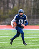 Skaneateles Lakers Patrick Hackler (10) running with the ball against the Chenango Forks Blue Devils in NYS Regional Finals Class B Football game action at the Micheal Bragman Stadium in Cicero, New York on Saturday, November 10, 2018. Skaneateles Lakers won 27-26.