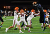 Liverpool Warriors Quarterback Brendan Mancuso (6) has his pass tipped by a Cicero-North Syracuse Northstars defender in Section III football game action at the Micheal Bragman Stadium in Cicero, New York on Friday, September 13, 2019. Liverpool won 10-0.