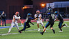 Liverpool Warriors Brendan Mancuso (6) running with the ball against the Cicero-North Syracuse Northstars in Section III football game action at the Micheal Bragman Stadium in Cicero, New York on Friday, September 13, 2019. Liverpool won 10-0.