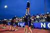 Liverpool Warriors cheerleaders performaing at a Section III football game against the Cicero-North Syracuse Northstars at the Micheal Bragman Stadium in Cicero, New York on Friday, September 13, 2019.