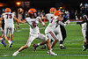 Liverpool Warriors Quarterback Brendan Mancuso (6) passing the ball against the Cicero-North Syracuse Northstars in Section III football game action at the Micheal Bragman Stadium in Cicero, New York on Friday, September 13, 2019. Liverpool won 10-0.