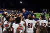 Liverpool Warriors Assistant Coach talks with his team after defeating the Cicero-North Syracuse Northstars in a Section III football game at the Micheal Bragman Stadium in Cicero, New York on Friday, September 13, 2019. Liverpool won 10-0.
