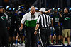 Cicero-North Syracuse Northstars Head Coach Dave Kline complains about a call to the Referee in a Section III football game against the Liverpool Warriors at the Micheal Bragman Stadium in Cicero, New York on Friday, September 13, 2019. Liverpool won 10-0.