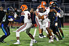 Liverpool Warriors Dakari Mack (34) running with the ball against the Cicero-North Syracuse Northstars in Section III football game action at the Micheal Bragman Stadium in Cicero, New York on Friday, September 13, 2019.