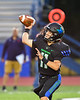 Cicero-North Syracuse Northstars Quarterback JJ Razmovski (11) throwing the ball against the Liverpool Warriors in Section III football game action at the Micheal Bragman Stadium in Cicero, New York on Friday, September 13, 2019. Liverpool won 10-0.