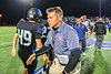 Liverpool Warriors Head Coach David Mancuso shakes hands with Cicero-North Syracuse Northstars players and staff after a Section III football game at the Micheal Bragman Stadium in Cicero, New York on Friday, September 13, 2019. Liverpool won 10-0.