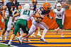 Liverpool Warriors Bryce Mills (30) scores a touchdown against the Fayetteville-Manlius Hornets in the 2019 Kickoff Classic at the Carrier Dome in Syracuse, New York. Liverpool won 21-7.