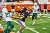 Liverpool Warriors Brayden McClain (2) avoids a tackle against the Fayetteville-Manlius Hornets in the 2019 Kickoff Classic at the Carrier Dome in Syracuse, New York. Liverpool won 21-7.