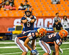 Liverpool Warriors Quarterback Brendan Mancuso (6) signalling to his team against the Fayetteville-Manlius Hornets in the 2019 Kickoff Classic at the Carrier Dome in Syracuse, New York. Liverpool won 21-7.
