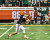 Liverpool Warriors Brayden McClain (2) fields a punt against the Fayetteville-Manlius Hornets in the 2019 Kickoff Classic at the Carrier Dome in Syracuse, New York. Liverpool won 21-7.