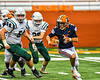 Liverpool Warriors Brayden McClain (2) running with the ball against the Fayetteville-Manlius Hornets in the 2019 Kickoff Classic at the Carrier Dome in Syracuse, New York. Liverpool won 21-7.