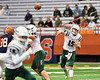 Fayetteville-Manlius Hornets Quarterback Zakary Conley (15) passing the ball against the Liverpool Warriors in the 2019 Kickoff Classic at the Carrier Dome in Syracuse, New York. Liverpool won 21-7.