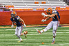 Liverpool Warriors Jacob Vacco (44) kicks off to the Fayetteville-Manlius Hornets in the 2019 Kickoff Classic at the Carrier Dome in Syracuse, New York. Liverpool won 21-7.