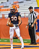 Liverpool Warriors Bryce Mills (30) celebrates after scoring a touchdown against the Fayetteville-Manlius Hornets in the 2019 Kickoff Classic at the Carrier Dome in Syracuse, New York. Liverpool won 21-7.