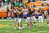 Liverpool Warriors players celebrating with their fans in the 2019 Kickoff Classic at the Carrier Dome in Syracuse, New York. Liverpool won 21-7.