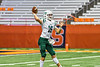 Fayetteville-Manlius Hornets Quarterback Zakary Conley (15) about to pass the ball against the Liverpool Warriors in the 2019 Kickoff Classic at the Carrier Dome in Syracuse, New York. Liverpool won 21-7.