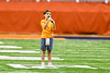 Brigg Liberman, 10, singing the National Anthem before the 2019 Kickoff Classic at the Carrier Dome in Syracuse, New York.