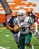 Fayetteville-Manlius Hornets Evan Welling (5) running with the ball against the Liverpool Warriors in the 2019 Kickoff Classic at the Carrier Dome in Syracuse, New York. Liverpool won 21-7.