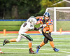 Marcellus Mustangs Nick Kermes (24) tackles Westhill Warriors Riley McNitt (24) in Section III football game action in Syracuse, New York on Friday, September 27, 2019. Marcellus won 34-6.
