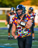 Westhill Warriors Runningback Riley McNitt (22) warming up before plaing the Marcellus Mustangs in a Section III football game in Syracuse, New York on Friday, September 27, 2019.