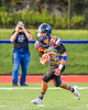 Marcellus Mustangs Geoffrey Daniul (12) running with the ball against the Westhill Warriors in Section III football game action in Syracuse, New York on Friday, September 27, 2019. Marcellus won 34-6.