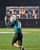 Marcellus Mustangs Nick Kermes (24) celebrates his touchdown against the Central Valley Academy Thunder in Section III, Class B football game action in Marcellus, New York on Friday, October 25, 2019. Marcellus won 17-14.