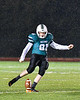 Marcellus Mustangs Liam Stuart (81) kicks off to start a Section III, Class B football playoff game against the Central Valley Academy Thunder in Marcellus, New York on Friday, October 25, 2019. Marcellus won 17-14.
