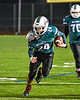 Marcellus Mustangs Nick Kermes (24) running with the ball against the Central Valley Academy Thunder in Section III, Class B football game action in Marcellus, New York on Friday, October 25, 2019. Marcellus won 17-14.