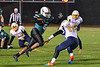 Marcellus Mustangs Wilvon McKee (6) running with the ball against the Central Valley Academy in Section III, Class B football game action in Marcellus, New York on Friday, October 25, 2019. Marcellus won 17-14.