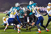Marcellus Mustangs Nick Kermes (24) scoring a touchdown against the Central Valley Academy in Section III, Class B football game action in Marcellus, New York on Friday, October 25, 2019. Marcellus won 17-14.