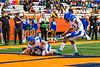 Utica-Proctor Raiders Zhani James (5) scores a Touchdown against the Cicero-North Syracuse Northstars in Section III Class AA Championship Football game action at the Carrier Dome in Syracuse, New York on Saturday, November 9, 2019. Cicero-North Syracuse Northstars won 28-25.
