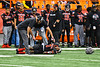Utica-Proctor Raiders Tasean Cooper (3) is injured against Cicero-North Syracuse Northstars in Section III Class AA Championship Football game action at the Carrier Dome in Syracuse, New York on Saturday, November 9, 2019. Cicero-North Syracuse Northstars won 28-25.