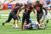 Utica-Proctor Raiders Tasean Cooper (3) running with the ball against the Cicero-North Syracuse Northstars in Section III Class AA Championship Football game action at the Carrier Dome in Syracuse, New York on Saturday, November 9, 2019. Cicero-North Syracuse Northstars won 28-25.