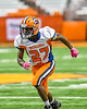 Solvay Bearcats Justin Scott (27) playing against the Oneida Indians in Section III Class B Championship Football game action at the Carrier Dome in Syracuse, New York on Saturday, November 9, 2019. Solvay won 14-7.