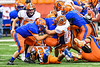 Solvay Bearcats Blaine Franklin (7) tackles Oneida Indians Stephen Cafalone (30) in Section III Class B Championship Football game action at the Carrier Dome in Syracuse, New York on Saturday, November 9, 2019. Solvay won 14-7.