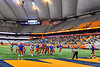 Solvay Bearcats kicks the Extra Point against the Oneida Indians in Section III Class B Championship Football game action at the Carrier Dome in Syracuse, New York on Saturday, November 9, 2019. Solvay won 14-7.