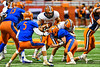 Solvay Bearcats Elijah Wright (9) running with the ball against the Oneida Indians in Section III Class B Championship Football game action at the Carrier Dome in Syracuse, New York on Saturday, November 9, 2019. Solvay won 14-7.