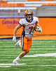 Solvay Bearcats Blaine Franklin (7) running with the ball against the Oneida Indians in Section III Class B Championship Football game action at the Carrier Dome in Syracuse, New York on Saturday, November 9, 2019. Solvay won 14-7.