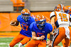 Oneida Indians Quarterback Jordan Clark (27) running with the ball against the Solvay Bearcats in Section III Class B Championship Football game action at the Carrier Dome in Syracuse, New York on Saturday, November 9, 2019. Solvay won 14-7.