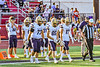West Genesee Wildcats Captains Christian Becker (73), Colin McAvan (85) and Benjamin Chamberlain (17) before playing the Baldwinsville Bees in a Section III Football game at the Pelcher-Arcaro Stadium in Baldwinsville, New York on Friday, September 3, 2021.