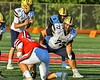 West Genesee Wildcats Christian Becker (73) playing against the Baldwinsville Bees in Section III Football action at the Pelcher-Arcaro Stadium in Baldwinsville, New York on Friday, September 3, 2021.  Baldwinsville won 14-13.