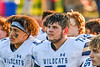 West Genesee Wildcats Jeremiah Newkirk (4) and Christian Becker (73) listen to an official before playing the Baldwinsville Bees in a Section III Football game at the Pelcher-Arcaro Stadium in Baldwinsville, New York on Friday, September 3, 2021.