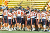 East Syracuse-Minoa Spartans players get ready to play the the Fulton Red Raiders in a Section III Football game in Fulton, New York on Friday, September 17, 2021.