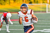 East Syracuse-Minoa Spartans Rahkhem El (5) runs in for his first touchdown against the Fulton Red Raiders in Section III Football action in Fulton, New York on Friday, September 17, 2021. East Syracuse-Minoa won 53-20.