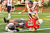 Fulton Red Raiders Rhyle Humphrey (39) takes the ball into the End Zone for a touchdown against the East Syracuse-Minoa Spartans in Section III Football action in Fulton, New York on Friday, September 17, 2021. East Syracuse-Minoa won 53-20.