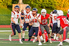 East Syracuse-Minoa Spartans Quarterback Tyler Bell (12) running the bases against the Fulton Red Raiders in Section III Football action in Fulton, New York on Friday, September 17, 2021. East Syracuse-Minoa won 53-20.
