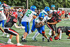 Cicero-North Syracuse Northstars Jamar Ballard Jr. (33) running with the ball against the Baldwinsville Bees in Section III Football action at the Pelcher-Arcaro Stadium in Baldwinsville, New York on Friday, September 24, 2021. Cicero-North Syracuse won 40-7.