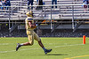 West Genesee Wildcats Exavier Brumfield (7) scores a touchdown against the Fayetteville-Manlius Hornets in Section III Football action at Mike Messere Field in Camillus, New York on Saturday, April 3, 2021. West Genesee won in OT 38-32.