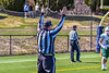 Referee signalling a Fayetteville-Manlius Hornets touchdown against the West Genesee Wildcats in Section III Football action at Mike Messere Field in Camillus, New York on Saturday, April 3, 2021. West Genesee won in OT 38-32.